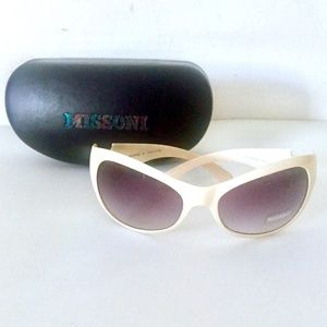 Missoni Italy Sunglasses White Curved